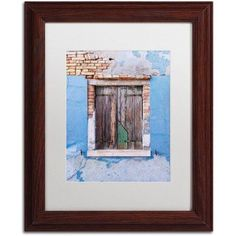 Trademark Fine Art Once Blue Canvas Art by Michael Blanchette Photography White Matte, Wood Frame, Assorted