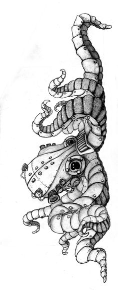 Steampunktopus. Sketch