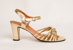 Vintage 1970s Italian Gold Shoes