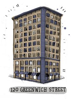 An attempt to draw all the buildings in New York by @gulliverhancock