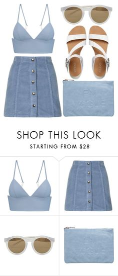 """""""wolf"""" by deep-serene ❤ liked on Polyvore featuring T By Alexander Wang, Topshop, LDNR, Miss Selfridge and ALDO"""