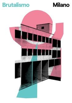 Brutalismo is a poster series of Italian brutalist architecture by London-based graphic designer Peter Chadwick Collage Architecture, Architecture Design, Landscape Architecture Drawing, Architecture Sketchbook, Architecture Graphics, Architecture Posters, Victorian Architecture, Light Architecture, Design Typography