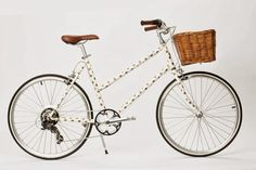 Karen Walker has designed this limited edition bicycle, exclusive in Australia, in collaboration with TOKYOBIKE, complete with her signature gold polka dots. Perfect for a weekend ride! The Bicycle comes as a total package including a wicker basket. Kate Middleton Queen, Tokyo, Gold Polka Dots, Christmas Gift Guide, Karen Walker, Top Gifts, Gift Store, Cool Stuff, Stuff To Buy
