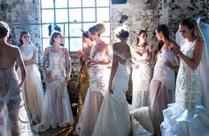 Behind the scenes at Australian Bridal Fashion Week over the weekend at ATP Conference Centre.