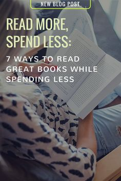 Check out my blog post! Read More, Spend Less: 7 Ways To Read Great Books While Spending Less  http://www.loudlife35.com/2017/07/read-more-spend-less-7-ways-to-read.html?utm_campaign=crowdfire&utm_content=crowdfire&utm_medium=social&utm_source=pinterest