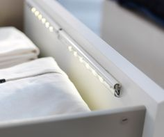 Dioder Drawer Light - Sometimes it's the simplest of technology that makes our lives that much enjoyable - case in point: these LED strips that automatically turn on when you open your drawers.
