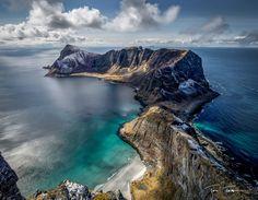 Måstadfjellet, Værøy.  Værøy, Lofoten - Norway