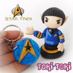 Spock Star Trek Figurine Series Handmade by MadeByTokiToki on Etsy
