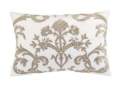 Mackie Small Rectangle Pillow White Linen / Fawn Velvet (14 x 22) L233AWF-V
