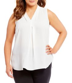 Shop for Vince Camuto Plus Inverted Pleat Sleeveless Blouse at Dillards.com. Visit Dillards.com to find clothing, accessories, shoes, cosmetics & more. The Style of Your Life.