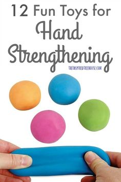 12 Fun Toys for Hand Strengthening - The Inspired Treehouse - - The Inspired Treehouse – These fun toys for hand strengthening are perfect for getting kids interested and engaged! Fine Motor Activities For Kids, Motor Skills Activities, Gross Motor Skills, Visual Perceptual Activities, Occupational Therapy Activities, Physical Therapy, Exercise For Kids, Cool Toys, Inspired