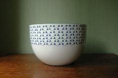 Finel Kaj Franck Enamel Bowl  Danish Modern Large by JunkHouse, $85.00