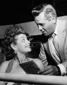 Lucille Ball and Desi Arnaz at the Del Mar Race Track, 1950s.