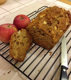 Apple Cinnamon Breakfast Bread. Apple, cinnamon, and walnuts, baked together to make the perfect autumn breakfast.