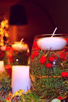Handmade decoration idea for christmas. Tischdeko schnell und einfach selbst gemacht. #villavienna #christmas #weihnachten #decoration #dekoidee