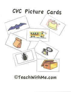 CVC Word and Picture Cards...great for centers!