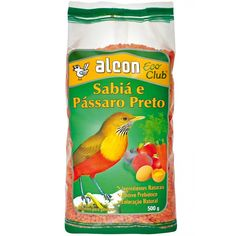 Ração para Passaro Preto e Sabia Alcon Eco Club - Meuamigopet.com.br #asas #asa #animais #aves #passaros #meuamigopet