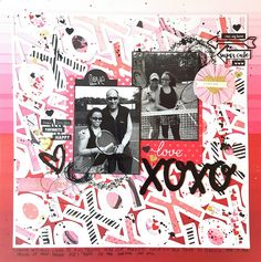 XOXO/ Scrapbook Layout