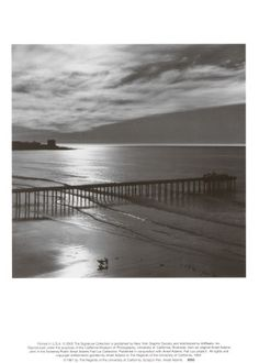Ansel Adams - The Scripps Pier, 1966
