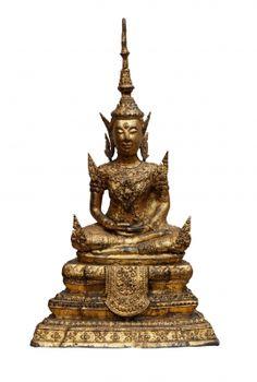 """Escuela tailandesa; periodo Rattanakosin, siglo XIX.  """"Buda""""."""