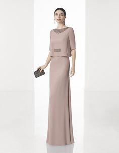 Vestido de Fiesta de Rosa Clará (1T145), colección so chic, largo