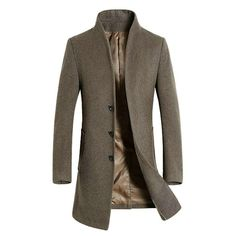 62.00 US Stock Mens Winter Warm Wool Blend Trench Coat Slim Fit Peacoat Overcoat #Unbrand #OtherCoats