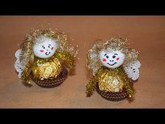 Engel aus Süßigkeiten basteln - YouTube