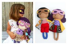 Wonderful handmade superhero dolls for kids with loads of personality. And you can customize them too! | from La Loba Studio