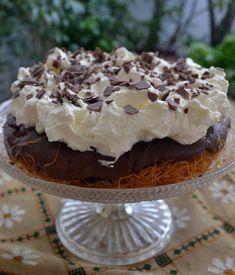 AKIS PETRETZIKIS--Εκμέκ κανταΐφι σοκολάτας (Γλυκός πειρασμός) Sweet Recipes, Tiramisu, Pie, Pudding, Sweets, Candy, Cooking, Ethnic Recipes, Desserts