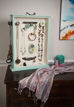 Make your own jewelry organizer using a salvaged drawer and an assortment of hardware. Use our step-by-step tutorial to make this perfect gift for yourself or a friend.