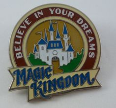 Pin: Magic Kingdom pin from the 2010 season passholder exclusive set, A World of Wonderment. (Style looks like vintage World's Fair ads of the early 20th century.)