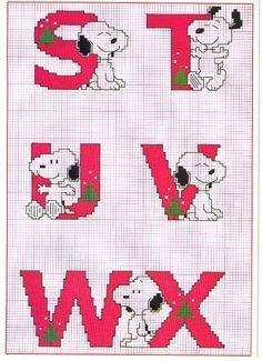 alfabeto punto croce charlie brown peanuts (4)