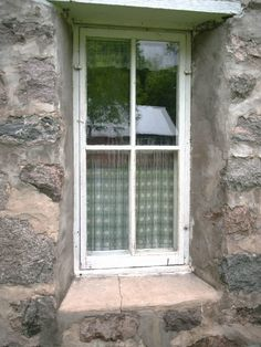 old windows | ... old windows were thicker at the bottom than at the top, showing that