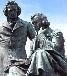 Grimm Brothers Monument at Hanau (Germany) Kassel, Germany home of the Brothers Grimm. I had the pleasure of living and studying there while working on my BA. Hermann Hesse, O Grimm, Richard Wagner, German Fairy Tales, Cassie Stephens, Brothers Grimm, Bronze, Martin Luther, Fairy Tail