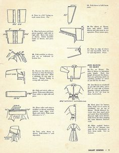 1949 hostess gown, p2 by blueprairie, via Flickr Page 2 of sewing directions for Hostesss Gown