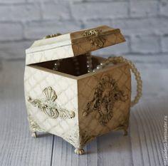 """Купить Шкатулка """"Светлый Барокко"""" - слоновая кость, барокко, рококо, ангелы, подарок на Пасху"""