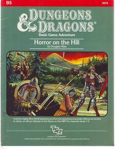 Swords & Stitchery - Old Time Sewing & Table Top Rpg Blog: Retro Review & Commentary On The OD&D Adventure Module- Horror on the Hill For Your Old School OD&D Campaigns