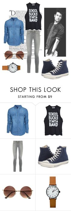 """Bastille outfit"" by teenwolfstilinski on Polyvore featuring Balmain, New Look, High Heels Suicide, rag & bone and Converse"