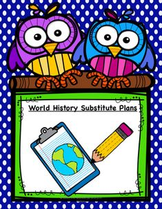 Do you have sub plans ready in case you can't make it into school? If not, do…