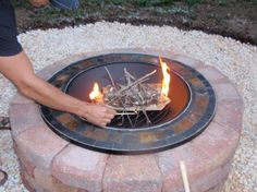Make your own fire pit!.