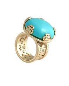 Azura Boutique - Kendra Scott Tyra Ring, $80.00 (http://www.shopazura.com/tyra-gold-cocktail-ring/)