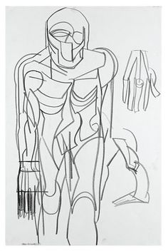 Contemporary Art Daily, Contemporary Sculpture, Contemporary Artists, Modern Art, Thomas Houseago, Line Drawing, Drawing Board, Photo Illustration, Artist At Work