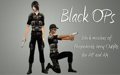 Black Army Outfits_AM and AF | Hell Has Spoken