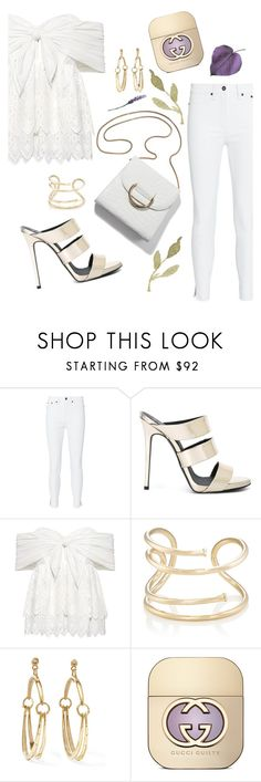 """White"" by sunnydays4everkh ❤ liked on Polyvore featuring rag & bone, Giuseppe Zanotti, Sea, New York, Jennifer Fisher, Chloé and Gucci"