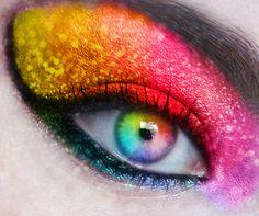 #rainbow #makeup #eyes