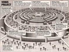 Cybernated circular city designed by Jacque Fresco