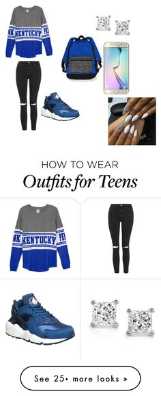 """""""teens only"""" by lordgirlky on Polyvore featuring Victoria's Secret, Topshop, NIKE, Samsung, women's clothing, women's fashion, women, female, woman and misses"""