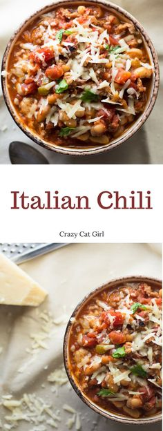 This Italian Chili is a spin on the classic, with hot Italian sausage and traditional Italian flavors like oregano and basil. Plus, my two secret ingredients to add extra flavor. This is a recipe you'll want to make again and again.