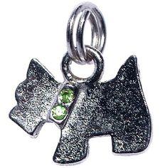 Pingente Schnauzer Verde São Pet - MeuAmigoPet.com.br #petshop #cachorro #cão #meuamigopet