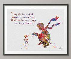 Le Petit Prince watercolor love love love this!